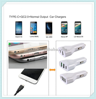 Multifunction All In One 2 3 4 USB Type-C QC2.0 Normal Output Car Charger