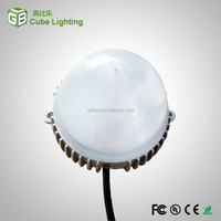 12chips waterproof led point light source milk white PC lampshade led point light outdoor 24v rgb led point lighting