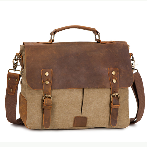 Custom laptop canvas shoulder men messenger bag