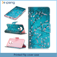 Cheap wholesale printing Bookstyle stand wallet phone cover flip Leather case for vivo V5