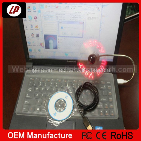 DIY Flexible LED Light USB Fan Programming Any Text Editing Reprogramme Character Advertising