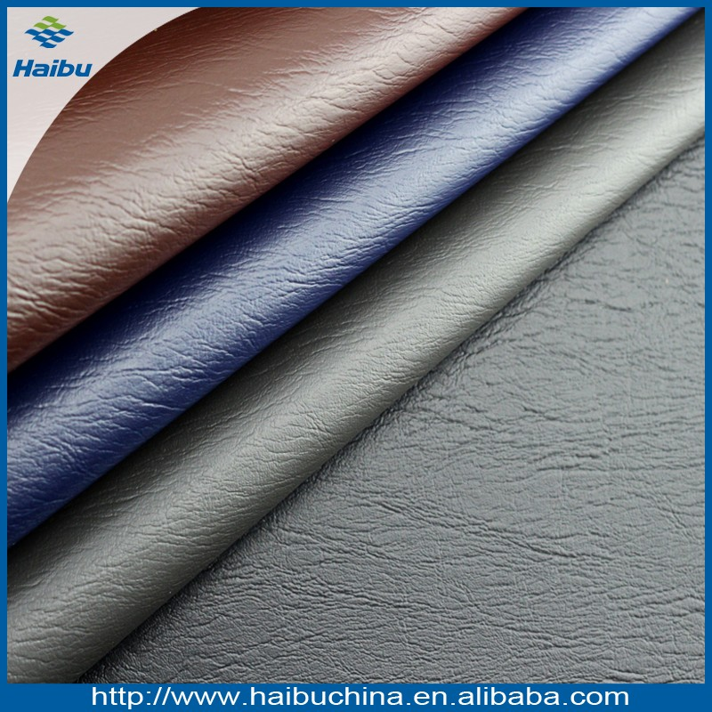 Free sample of dark brown faux leather fabric faux leather wholeale provide thick faux leather