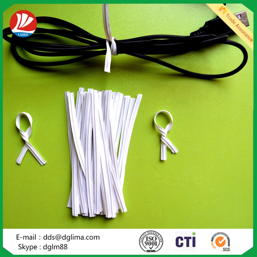 Colorful plastic twist tie used USB/ Plastic twist tie for electrical packing
