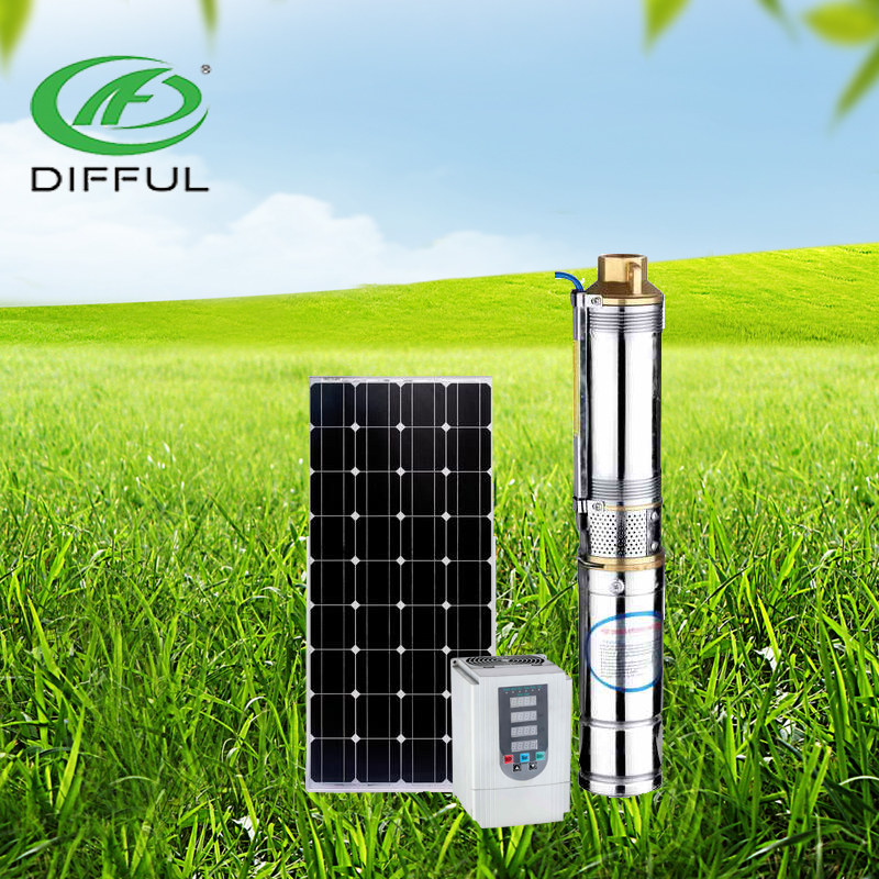 low price Stainless Steel electric solar centrifugal submersible deep well water pump