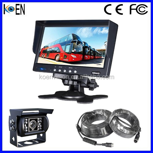 7 Inch Monitor IP68 Waterproof 24V IR LED Bus Camera System