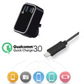 Output 3V 6V 9V 12V 3A 2A 1.5A Quick charge 3.0 usb wall charger 2 port qc 3.0 charger with KC Qualcomm 3.0 certification