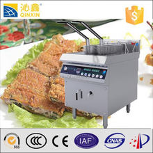 Industrial electric fryer machine for pressure fried chicken machine/fryers with Double baskets induction fry machine