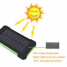 New Version 8000mah polymer battery 2 output ports with LED light portable solar power bank