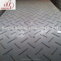 Custom cut polyethylene ground protection mat/ temporary platforms/ construction track road mats
