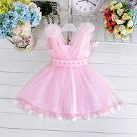 Charming baby dress wholesale Party Baby Girl's Kids Dresses Princess for weddings Clothing Elegant Sleeveless Dress Ball Gown