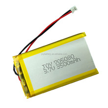 Customized size lipo 705080 rechargeable li-polymer 3.7v 3500mah battery pack for tablet pc