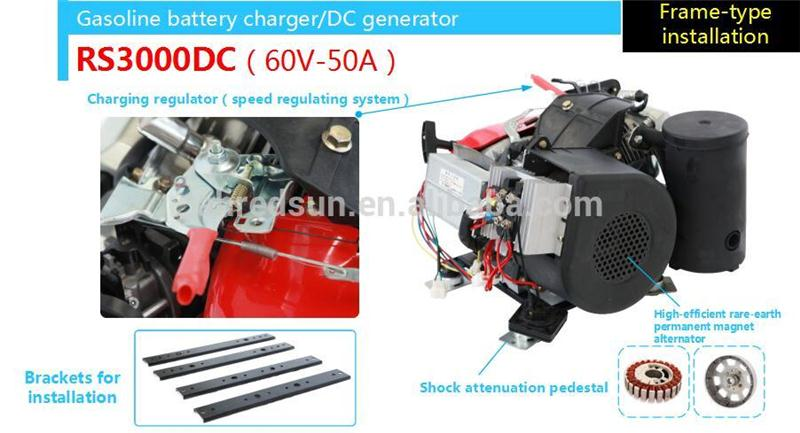 gasoline engine gasoline generator battery for battery recharge car