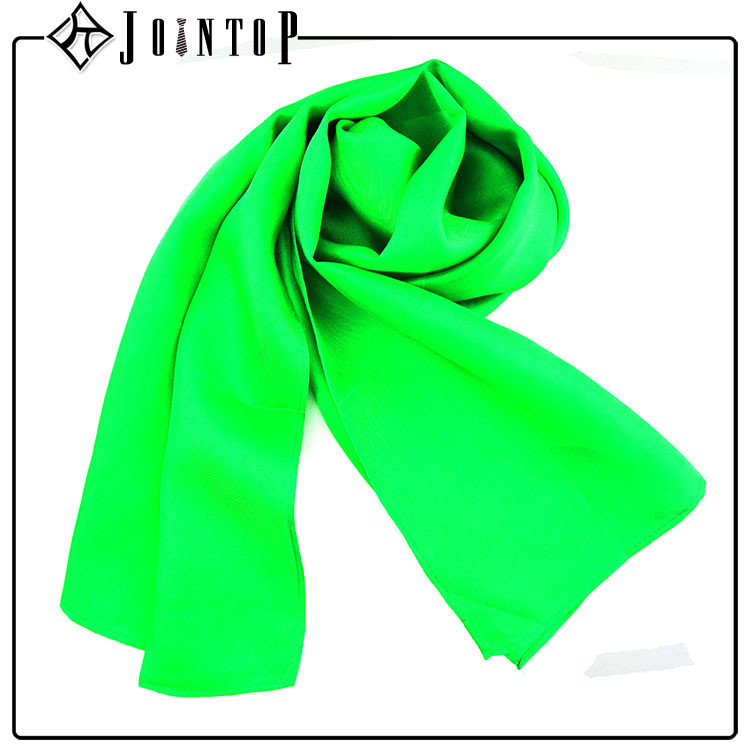 high quality long plain silk scarf shawl wrap emerald green
