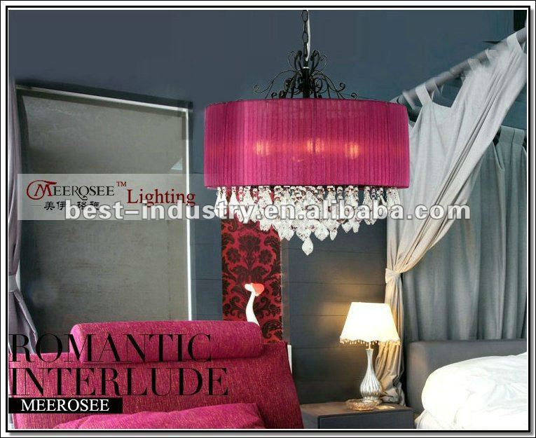 2012 Red crystal celling light/lamp,from Meerosee,supplier of 6-star hotel