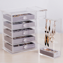 Clear Cosmetic Display custom makeup drawer organiser box, beauty organizers, Acrylic Jewelry Box with 5 Drawers