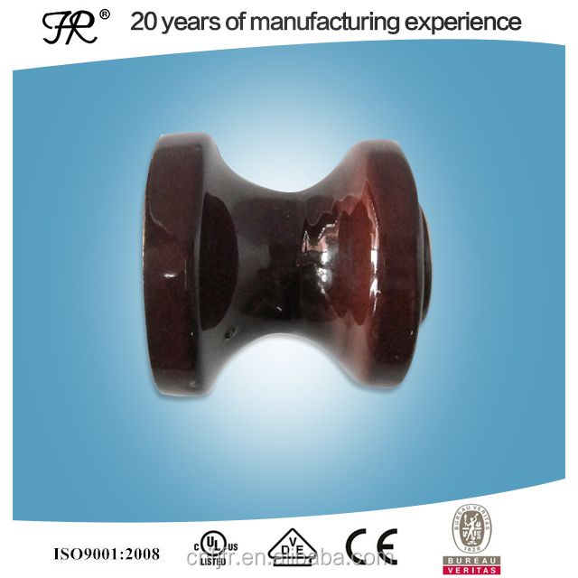 2016 new 14KN glazed porcelain brown color spool insulators
