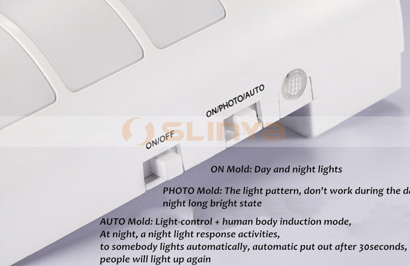 Motion Sensor Night Indoor 2 Color Light Portable LED Flashlight