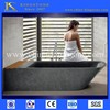 2014 factory price absolute black granite oval bath tubs on sale