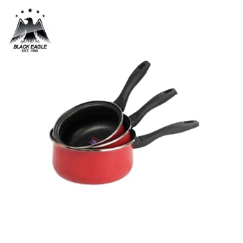 Excellent ceramic coating non stick enamel sauce pan
