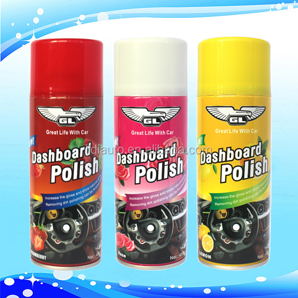 Dashboard silicone spray for leather