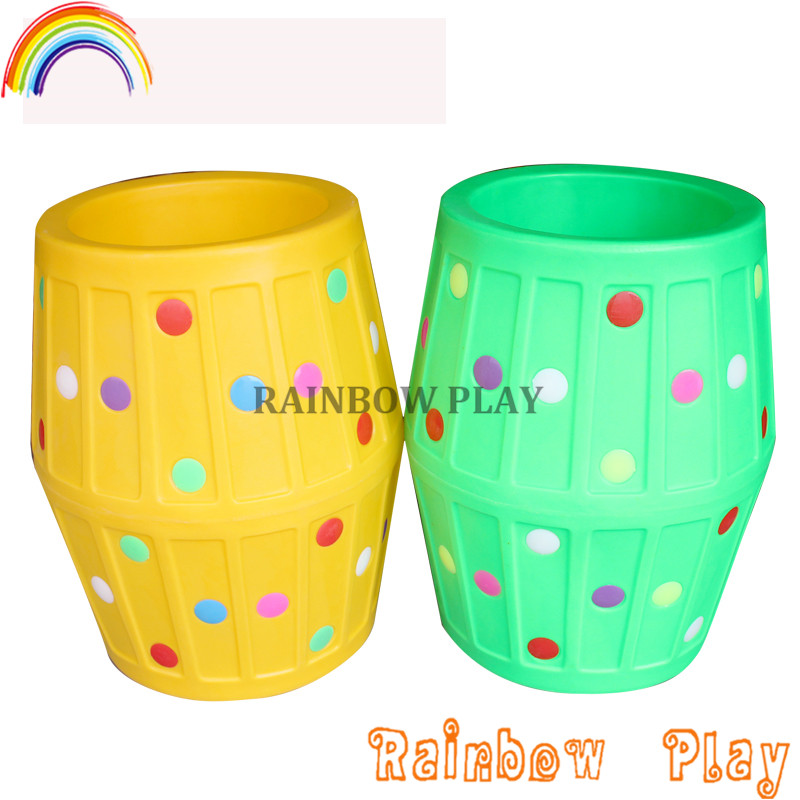 colourful Sensory Integration training play school plastic barrel toys