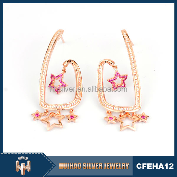 light weight 925 sterling silver pictures of gold earrings