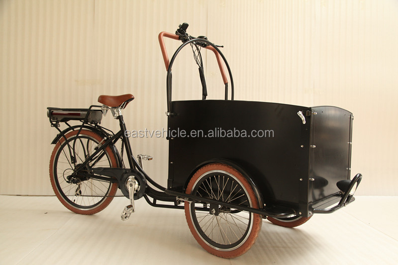 Electric motor 250W family cargo bike/heavy carrier tricycle for shopping