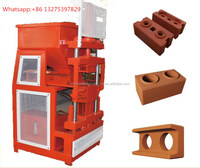 ecological bricks HR2-10 fully automatic clay interlocking block making machine, mud solid brick making machine price