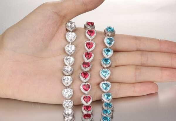 Platinum Plated accessories Silver heart shape copper accessory jewelry For women bracelet