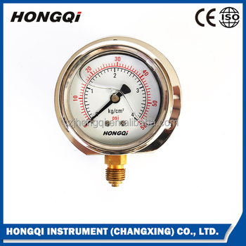 Hot sale high quality glycerine oil pressure manometer