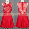 New model passion design red beaded mini short evening dinner banquet dress