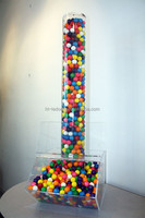 Customized acrylic candy bin with Tube