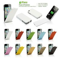 luxury leather battery cover for apple iphone 4 4s