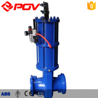 Solid Flow elastic rubber hose solid slurry Pneumatic Pinch valve