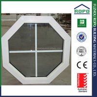 Modern cheap octagon design pvc grey glass window grille inserts