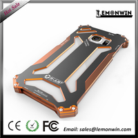 High quality fashion CE certificate orange protective phone metal case for Samsung Galaxy S6 edge