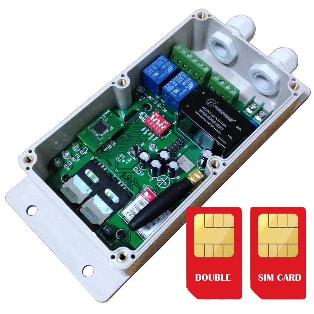 Double SIM card GSM SMS relay controller AC Power switch