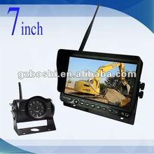 HOT- 7 inch 2.4GHz Digital Wireless Reversing Backup Camera System for bus/truck/vehicle