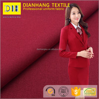 TR polyester viscose plain tropical weave mini matt lady suit uniform designs for women suit tr fabric