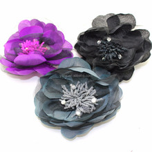 fashion fabric flower brooch and hair bands for lady