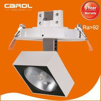 shop lighting narrow beam angle 90 degree tilt smart led downlight