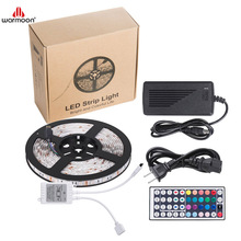LED Strip Light Waterproof 16.4ft <strong>RGB</strong> SMD 5050 LED Rope Lighting Color Changing Full Kit with 44-keys IR Remote Controller & Pow