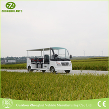 2018 Hot Sale small half closed park sightseeing bus with CE certification