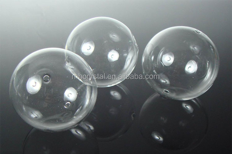 Hand Blown clear Glass Globe ball with hole MH-12833