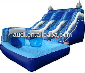 Double Drop with Dolphins Inflatable water slide/Inflatable Waterslide