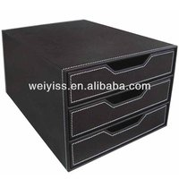 Leather Hanging Office Desk /Cubicle /Wall Organizer for Room/Office Desk2013