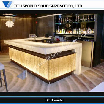 TW Bar Furniture Professor Offer Modern Design Coffee Shop Lighting LED Bar Counter