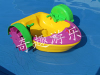 Swimming pool durable plastic electric inflatable paddle boat