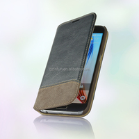 Flip PU leather case mobile phone cover for samsung galaxy s6