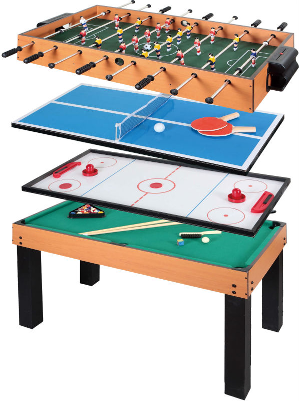 Good 5 In 1 Multi Functional Table Game Included Soccer,pool Table,table Tennis